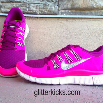 Women s Nike Free Run 5.0+ Running Jogging Training Shoes Custom 49f484858