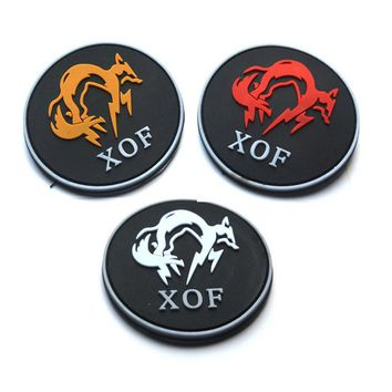 Metal gear solid/metal gear/the MGS new badge XOF special forces surrounding the games  patch military patches badges 8CM