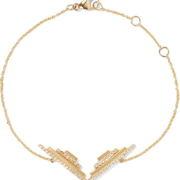 Winged Aztec 18-karat gold diamond bracelet | Khai Khai | US | THE OUTNET