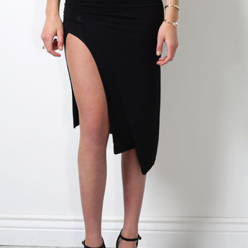 Lovers + Friends Bridgette Midi Skirt - Black