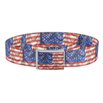 Draped American Flag Belt