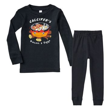 calcifer's bacon and eggs Infant long sleeve pajama set