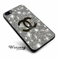 Chanel Glitter Sparkly art iPhone 4s iphone 5 iphone 5s iphone 6 case, Samsung s3 samsung s4 samsung s5 note 3 note 4 case, iPod 4 5 Case