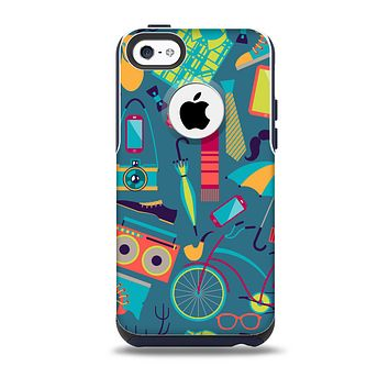 The Retro Colorful Hipster Pattern V2 Skin for the iPhone 5c OtterBox Commuter Case