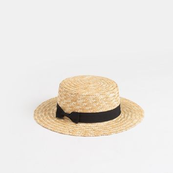 Brandi Straw Boater Hat