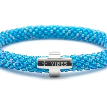 Positive Vibes Word Bracelet - Extended 8""