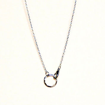 Circle necklace, Ring Necklace
