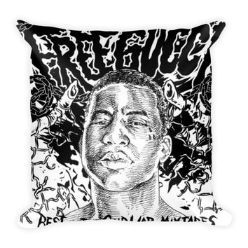 Free Gucci (16x16) All Over Print/Dye Sublimation Gucci Mane Couch Throw Pillow Insert & Pillow Case/Cover