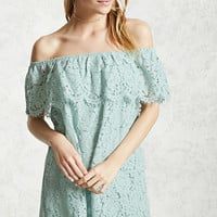 Crochet Off-the-Shoulder Dress