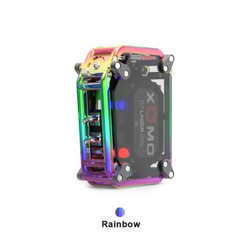 Amazing RAINBOW XOMO GT Laser 50W Box Mod 3500mAh, Words Can't Describe its beauty, (Tank options available)!