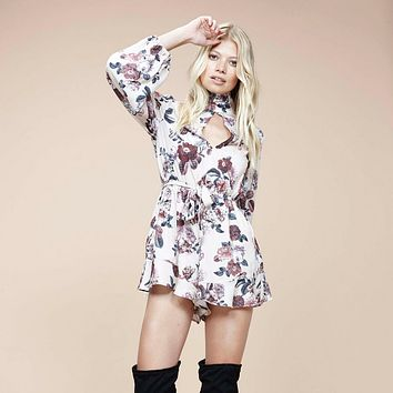 minkpink - toulouse printed playsuit romper