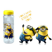 2015 Despicable Me Minions Water Bottle Plastic Sport My Bottle 500Ml Fashion Readily Cup