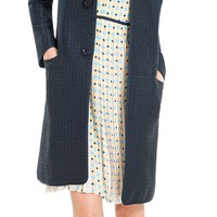 Max Textured Check Topper Coat by Leon Max | Max Studio Official