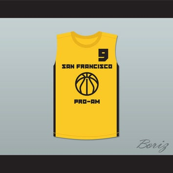 Stephen Curry Gold Rush 9 San Francisco Pro-Am Basketball Jersey