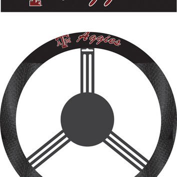 Poly-Suede Steering Wheel Cover Texas A&M Aggies - 58566