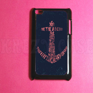 Ipod Touch 4 Case -   Anchor with writing Ipod 4G Touch Case, 4th Gen Ipod Touch Cases