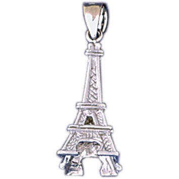 14K WHITE GOLD EIFFEL TOWER CHARM #11277