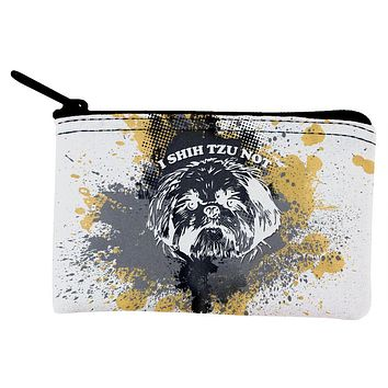 I Shih Tzu Not Funny Splatter Grunge Coin Purse