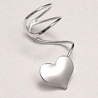 HEART Sterling Silver EAR CUFF