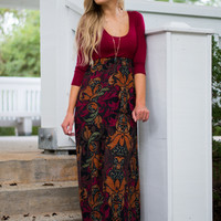 No Better Time Maxi, Burgundy