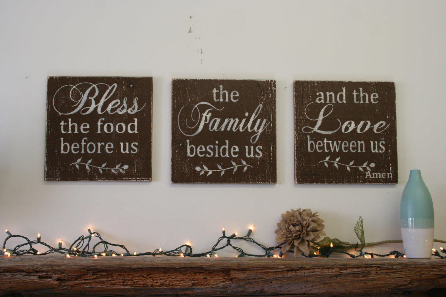 Bless The Food Before Us Wood Wallhanging From
