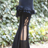 Tassel Lace Up Dance Pants - in Black or Brown - you choose your color strings