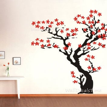 Cherry Blossom Wall Decal Tree  Wall Decal Nursery Wall Decals Wall Decor Home Decor Wall Sticker Wall Art 40154