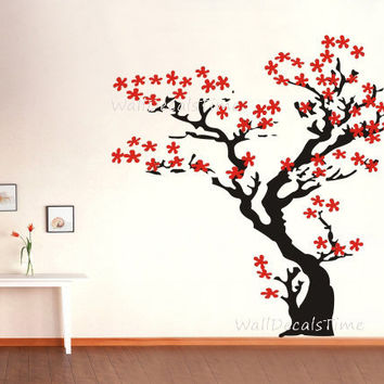 Cherry Blossom Wall Decal Tree Wall Decal Nursery Wall Decals Wall Decor  Home Decor Wall Sticker