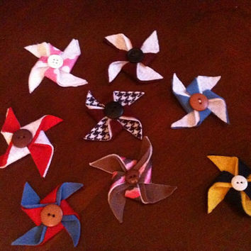 SALE Felt Pinwheel hairclips