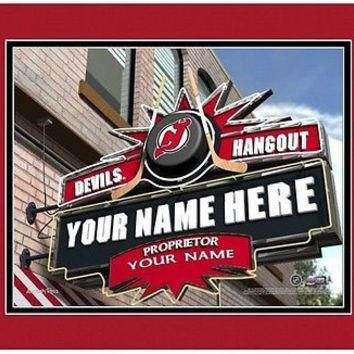 Hockey-NHL New Jersey Devils Sports Hangout Print personalized gift it