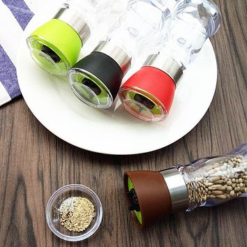 Urijk Salt Pepper Mills Grinder Shaker Spice Salt Container Condiment Jar Holder Accurately Adjustable Kitchen Tools