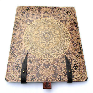 iPad case Leather 1 and 2 Elegant antique Lace by tovicorrie