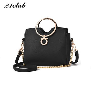 2017 casual chains metal handle small handbags hotsale laides purse famous brand women evening clutch messenger shoulder bags
