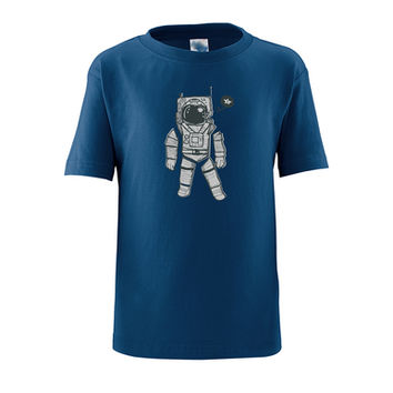 Spaceman Astronaut Outer Space Print on Kids Unisex T-Shirt