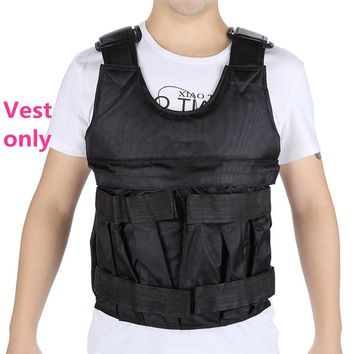 New 20KG Adjustable Workout Weight Weighted Vest Fitness Training Waistcoat Weightloading Sand Vest Weight Jacket