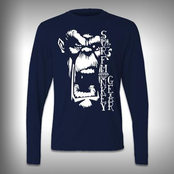 Screaming Monkey - Performance Shirt - Fishing Shirt - Decal Shirts