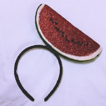 "xoCurlub ""Classic Watermelon"" Fruit Headband - Marina and the Diamonds FROOT Inspired Accessories"