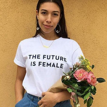 Fashion Trend t-shirt_THE FUTURE IS FEMALE [10240511373]
