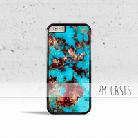 Turquoise Stone *Design Case Cover for Apple iPhone 4 4s 5 5s 5c 6 6s SE Plus & iPod Touch