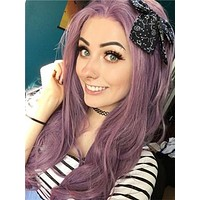 Purple Breeze Long Wave Synthetic Lace Front Wig