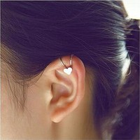 ES678 Fashion Unicorn Brincoss Girls Earing Bijoux Aros Heart Clip Ear Cuff Earrings For Women Jewelry Earings One Direction