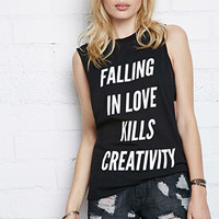 Married to the Mob Falling In Love Muscle Tee