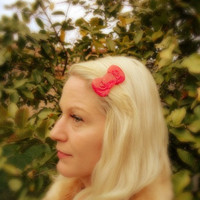 Hello Kitty Hair Bow Clip by Windsday on Etsy