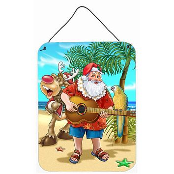 Beach Christmas Santa Claus Island Time Wall or Door Hanging Prints APH5151DS1216