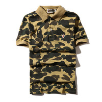 Men's Fashion Summer Camouflage Men Casual Short Sleeve T-shirts [10141569159]