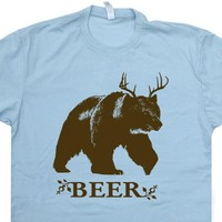 Beer Deer Bear T Shirt Funny Beer T Shirts Vintage T Shirts