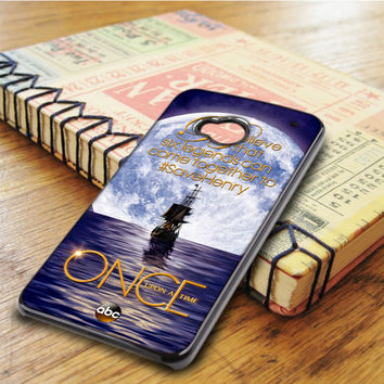 Once Upon Time Captain Hook Emma Swan HTC One M7 Case