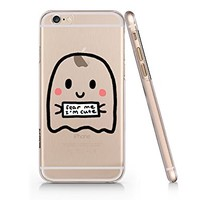 Halloween Cute Ghost Iphone 6 6s Case, Clear Iphone Hard Cover Case For Apple Iphone 6 6s Emerishop (VAE144.6sl)