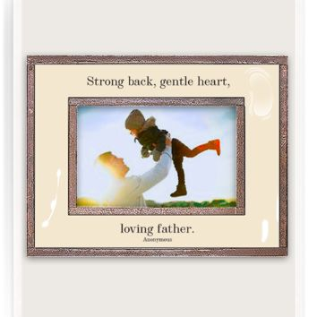 Strong Back, Gentle Heart Copper & Glass Photo Frame