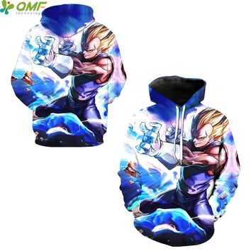 Vegeta Super Saiyan 3d Print Men Skateboarding Hoodies Dragon Ball Z Sportsuit Sweatshirts Hooded Tops Autumn Cosplay Hoody Tide